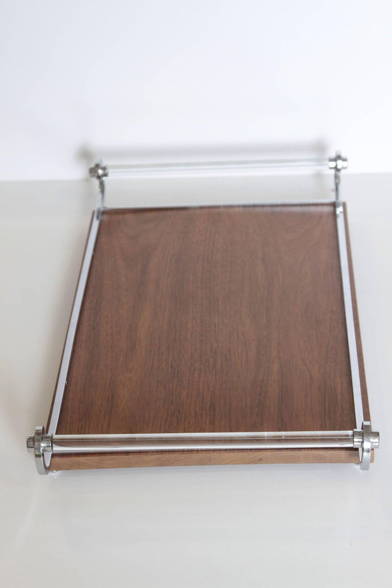 Machine Age Art Deco Cocktail Tray, Manner of James Amster In Good Condition For Sale In Dallas, TX