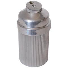 Machine Age Art Deco Eezee-Pour Cocktail Shaker Ribbed Aluminum, Emson Products