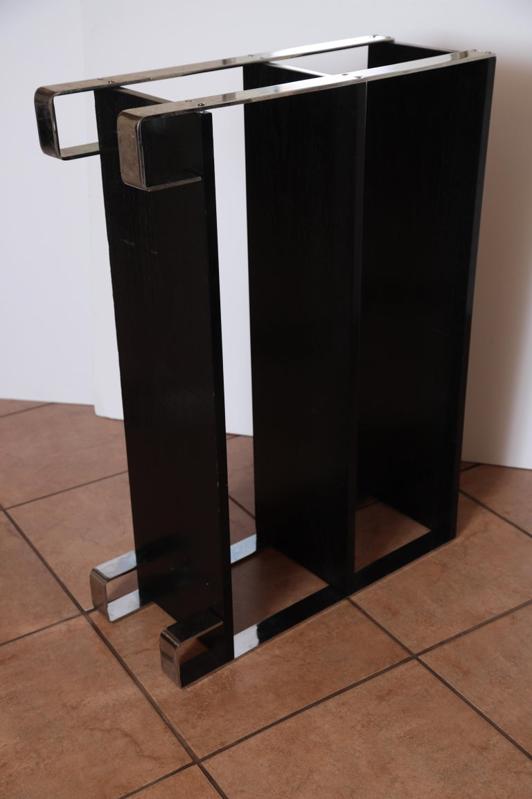 Machine Age Art Deco Flat, Band Chrome Shelf, in the Manner of Donald Deskey For Sale 8