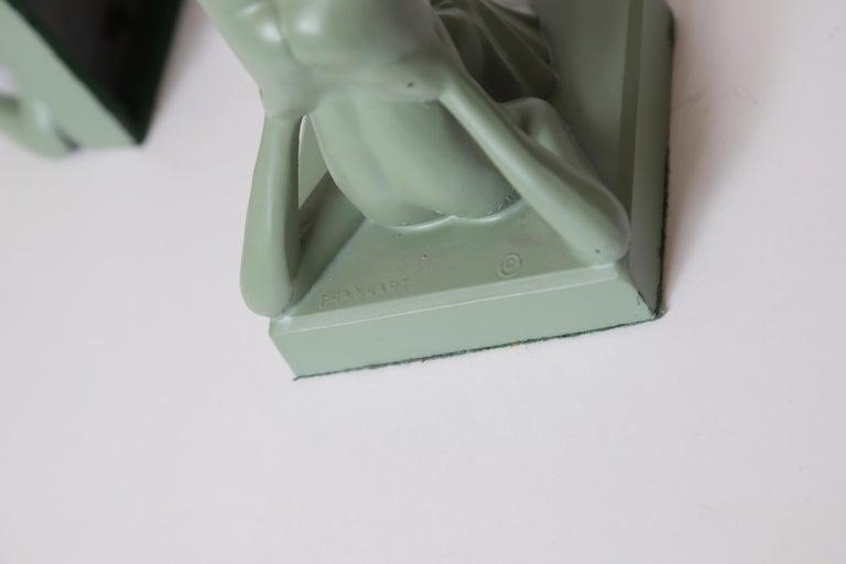 Machine Age Art Deco Frankart Pair of Ash Receivers # T325 Nude Sculpture For Sale 11