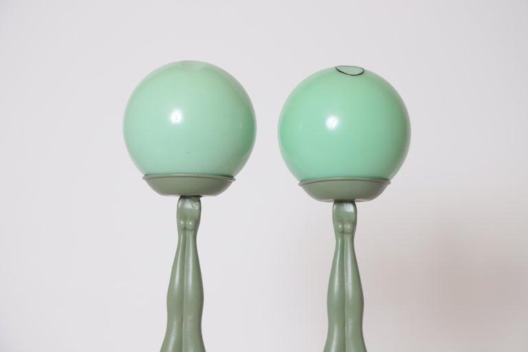 Machine Age Art Deco Frankart Pair of Ash Receivers # T325 Nude Sculpture For Sale 2