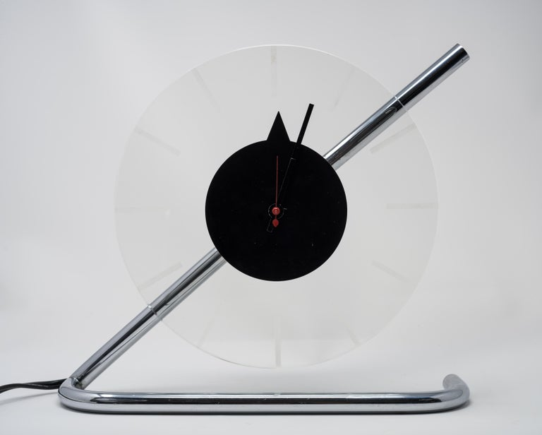 Machine Age Art Deco Gilbert Rohde for Herman Miller Iconic Z-Clock For Sale 4