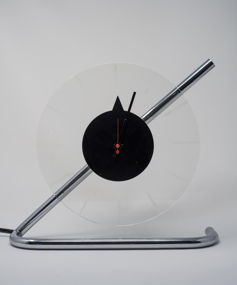 Machine Age Art Deco Gilbert Rohde for Herman Miller Iconic Z-Clock For Sale 10