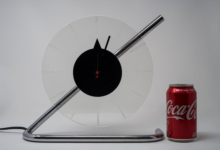 Machine age Art Deco Gilbert Rohde for Herman Miller iconic Z-clock ZEE ZED  One of the few select definitive American industrial design icons. Featured in every significant Museum collection, alongside other design icons by Donald Deskey, Paul