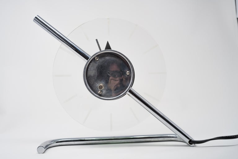 Machine Age Art Deco Gilbert Rohde for Herman Miller Iconic Z-Clock For Sale 1