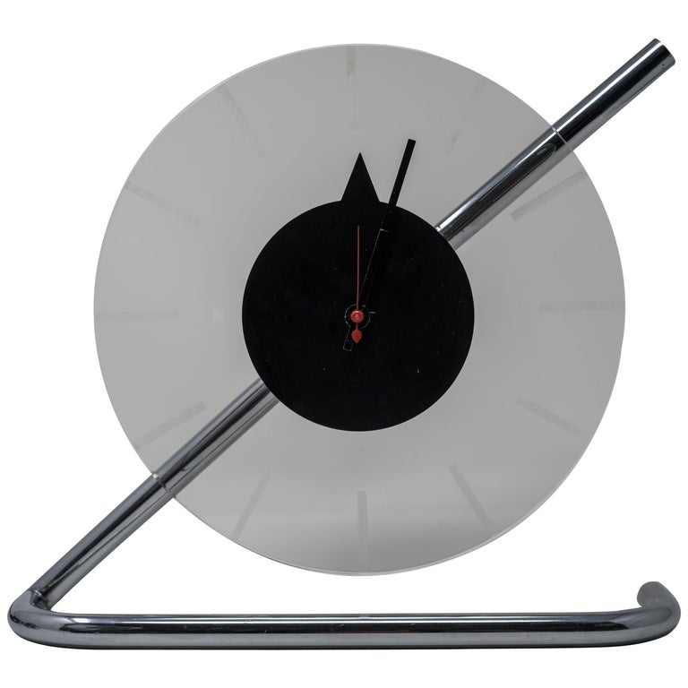 Machine Age Art Deco Gilbert Rohde for Herman Miller Iconic Z-Clock For Sale