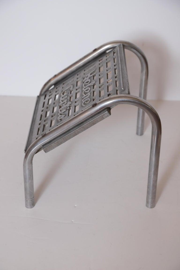 Mid-20th Century Machine Age Art Deco Helene Curtis Ottoman Stool Footstool Original Beauty Shop For Sale