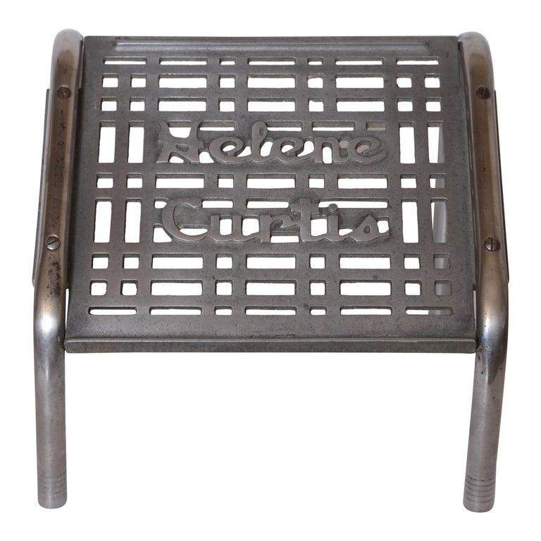 Machine Age Art Deco Helene Curtis Ottoman Stool Footstool Original Beauty Shop For Sale