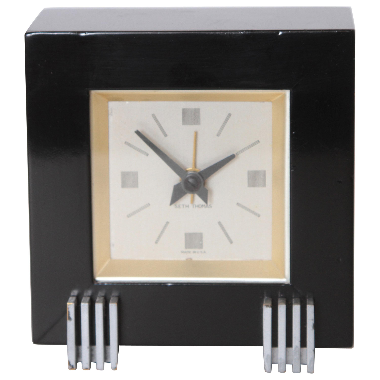 Machine Age Art Deco Henry Dreyfuss for Seth Thomas Iconic Dickson Table Clock