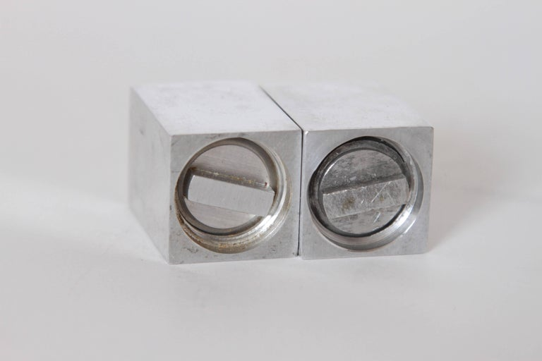 American Machine Age Art Deco Iconic Charles Sheeler Salt and Pepper Shaker Design, Pair For Sale