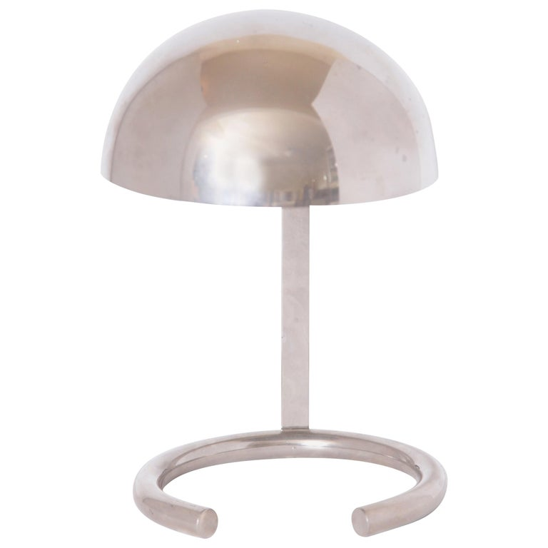 Machine Age Art Deco Jacques Adnet French Midcentury Table / Desk Lamp For Sale