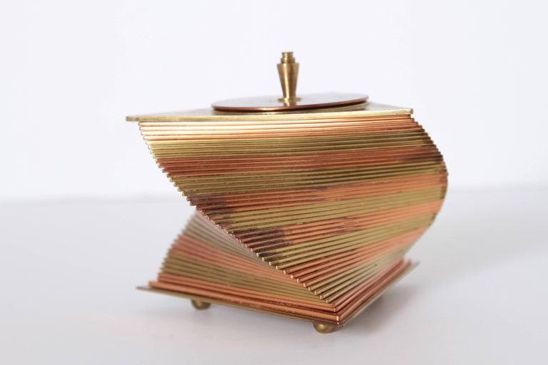 Machine Age Art Deco John Nicholas Otar Stacked Modernist Cigarette Box For Sale 5