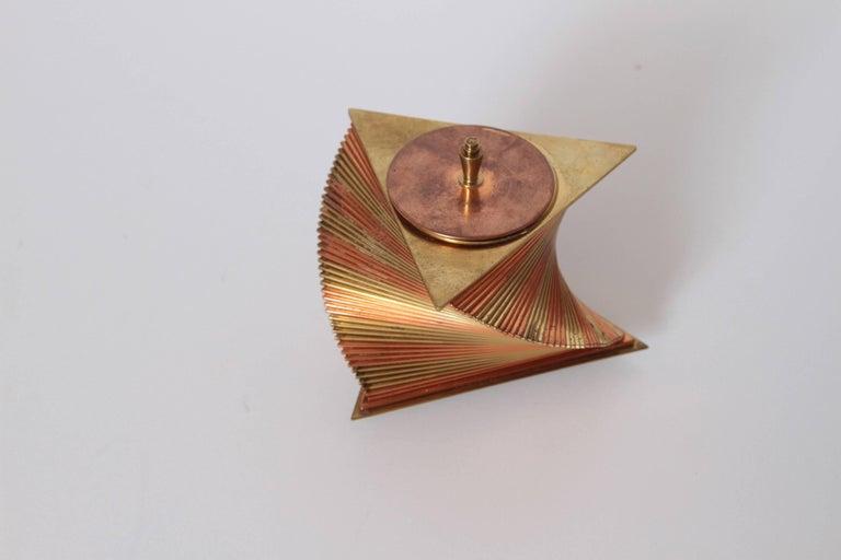 Mid-20th Century Machine Age Art Deco John Nicholas Otar Stacked Modernist Cigarette Box For Sale