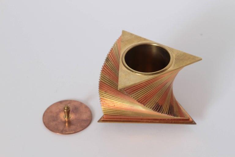 Machine Age Art Deco John Nicholas Otar Stacked Modernist Cigarette Box For Sale 2