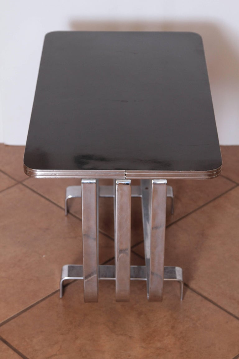 Machine Age Art Deco KEM Weber Lloyd Chromium Furniture Cocktail Table, Lloyd's For Sale 1
