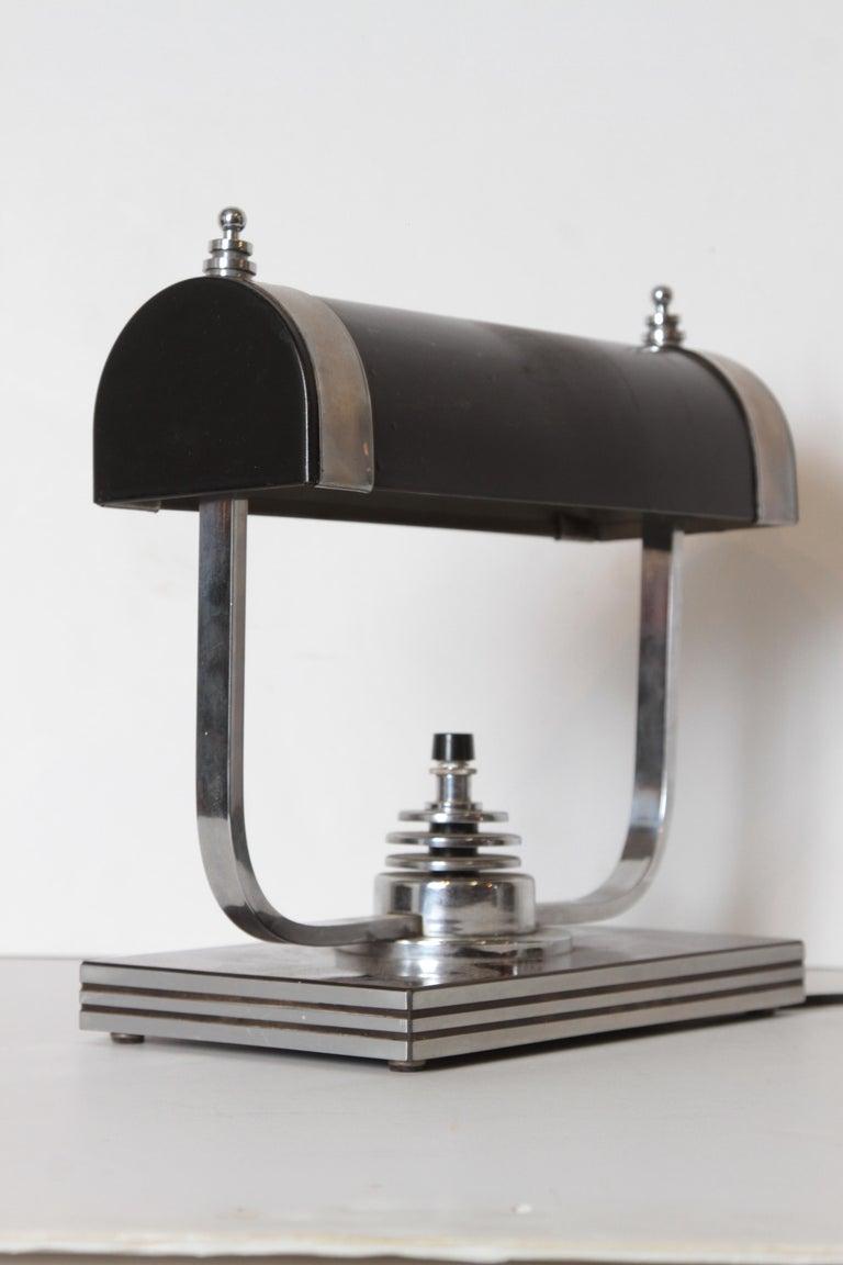 Machine Age Art Deco Markel Table Lamp For Sale 3