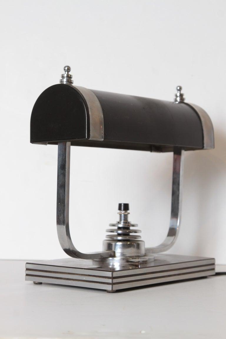 Machine Age Art Deco Markel Table Lamp For Sale 4