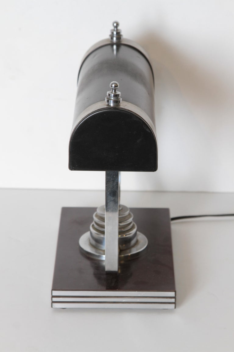 Machine Age Art Deco Markel Table Lamp In Good Condition For Sale In Dallas, TX
