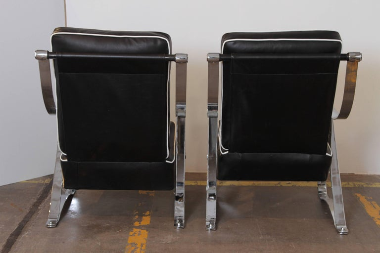 Mid-20th Century Machine Age Art Deco McKay Craft Streamline Pair of Cantilevered Lounge Chairs For Sale