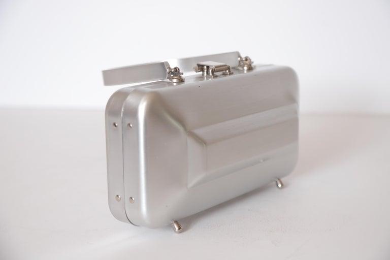 Machine Age Art Deco New Yorker Aluminum Purse Alcoa Alumilite Pre Kate Spade For Sale 4