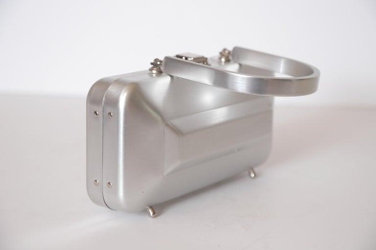 Machine Age Art Deco New Yorker Aluminum Purse Alcoa Alumilite Pre Kate Spade For Sale 5