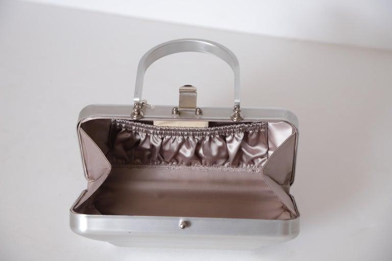 Machine Age Art Deco New Yorker Aluminum Purse Alcoa Alumilite Pre Kate Spade For Sale 6