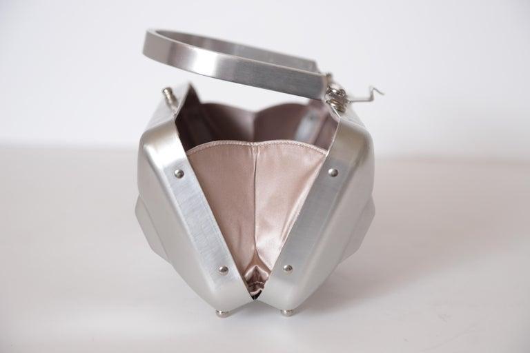 Machine Age Art Deco New Yorker Aluminum Purse Alcoa Alumilite Pre Kate Spade For Sale 8