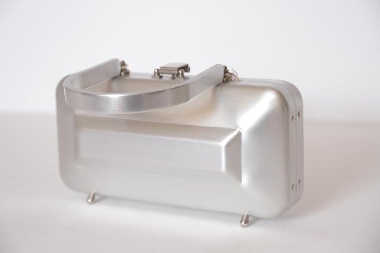 Machine Age Art Deco New Yorker Aluminum Purse Alcoa Alumilite Pre Kate Spade For Sale 9
