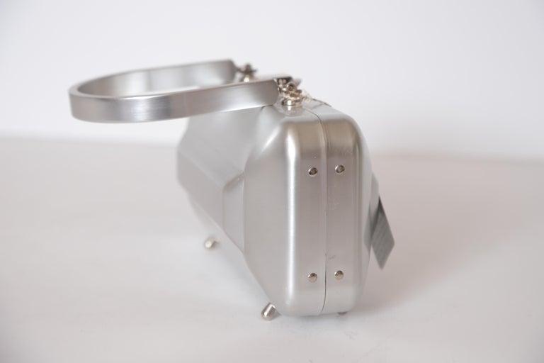 Machine Age Art Deco New Yorker Aluminum Purse Alcoa Alumilite Pre Kate Spade For Sale 10
