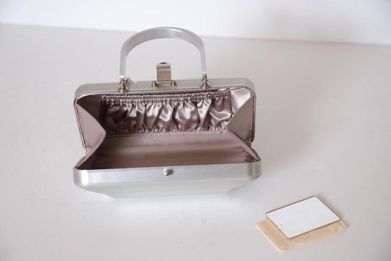 Machine Age Art Deco New Yorker Aluminum Purse Alcoa Alumilite Pre Kate Spade For Sale 11