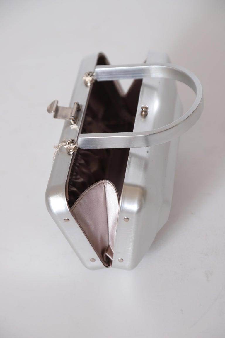Machine Age Art Deco New Yorker Aluminum Purse Alcoa Alumilite Pre Kate Spade For Sale 13