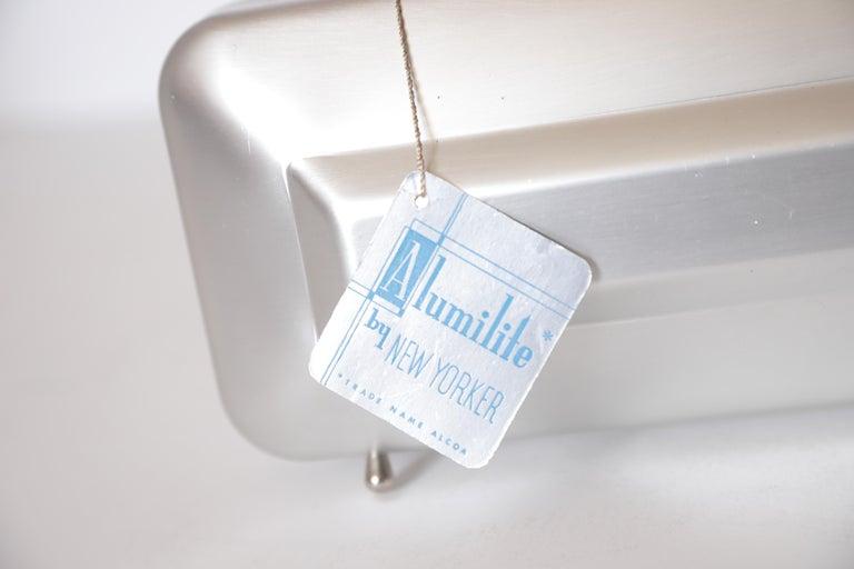 American Machine Age Art Deco New Yorker Aluminum Purse Alcoa Alumilite Pre Kate Spade For Sale