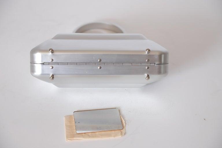 Machine Age Art Deco New Yorker Aluminum Purse Alcoa Alumilite Pre Kate Spade For Sale 1