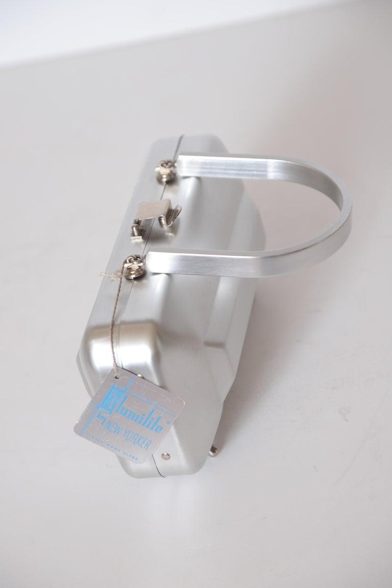 Machine Age Art Deco New Yorker Aluminum Purse Alcoa Alumilite Pre Kate Spade For Sale 2