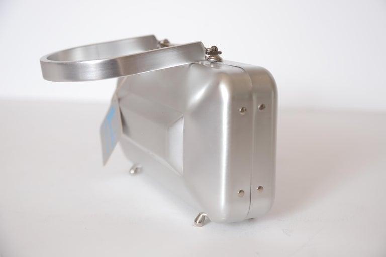 Machine Age Art Deco New Yorker Aluminum Purse Alcoa Alumilite Pre Kate Spade For Sale 3