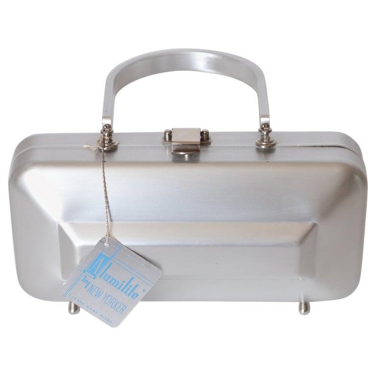 Machine Age Art Deco New Yorker Aluminum Purse Alcoa Alumilite Pre Kate Spade For Sale