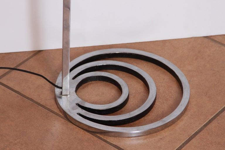 Machine Age Art Deco Patented EGLI Floor & Table Lamps, circa 1931, Rare Matched In Good Condition For Sale In Dallas, TX