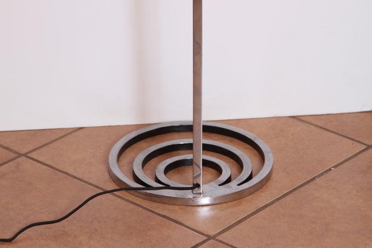 Machine Age Art Deco Patented EGLI Floor & Table Lamps, circa 1931, Rare Matched For Sale 1