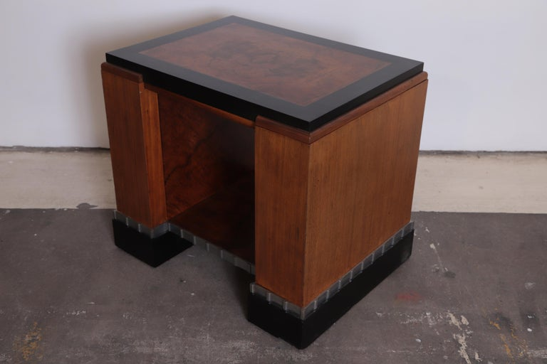 American Machine Age Art Deco Paul Frankl Skyscraper Library Occasional Table For Sale