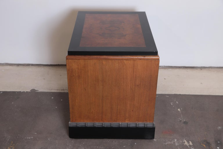 20th Century Machine Age Art Deco Paul Frankl Skyscraper Library Occasional Table For Sale