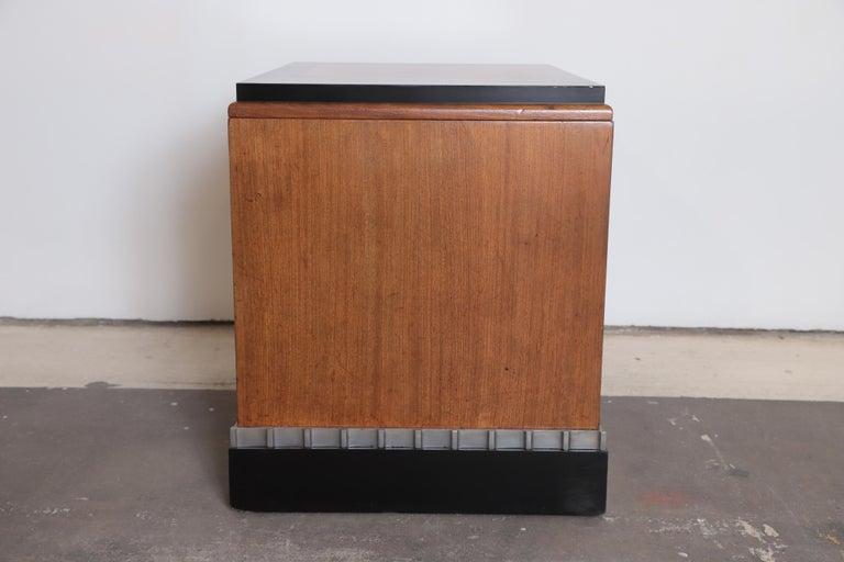 Lacquer Machine Age Art Deco Paul Frankl Skyscraper Library Occasional Table For Sale
