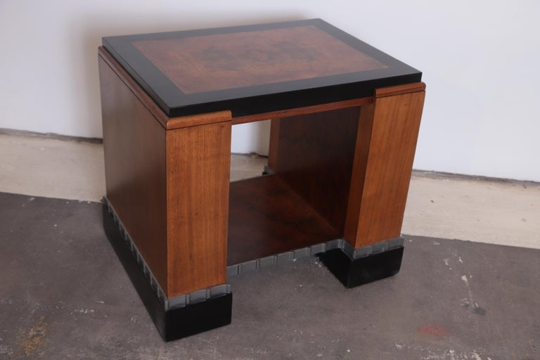 Machine Age Art Deco Paul Frankl Skyscraper Library Occasional Table For Sale 1