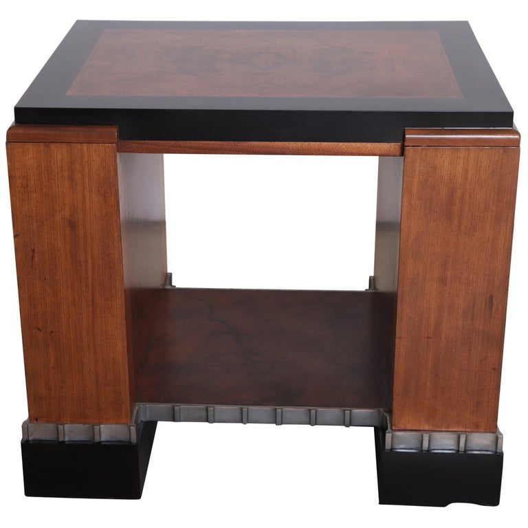 Machine Age Art Deco Paul Frankl Skyscraper Library Occasional Table For Sale