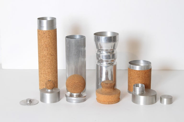 Machine Age Art Deco Rare Schlumbohm Fahrenheitor Cocktail Shaker for Chemex For Sale 6
