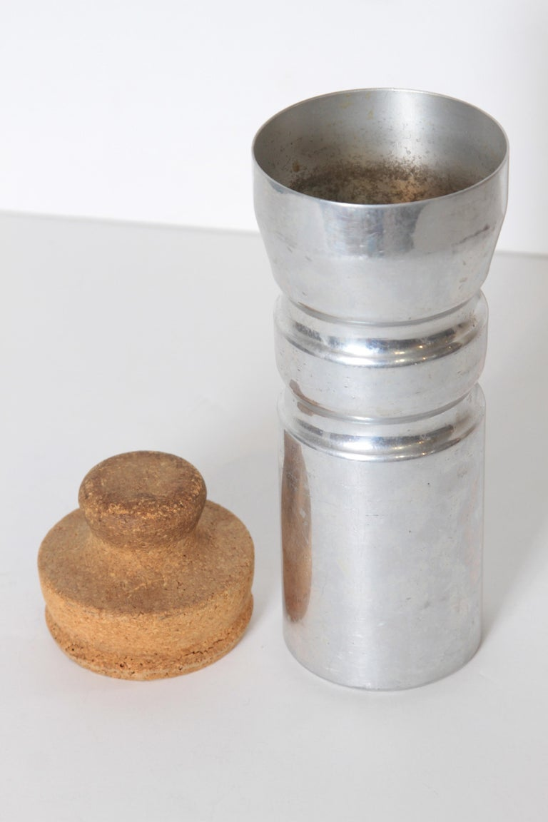 Aluminum Machine Age Art Deco Rare Schlumbohm Fahrenheitor Cocktail Shaker for Chemex For Sale
