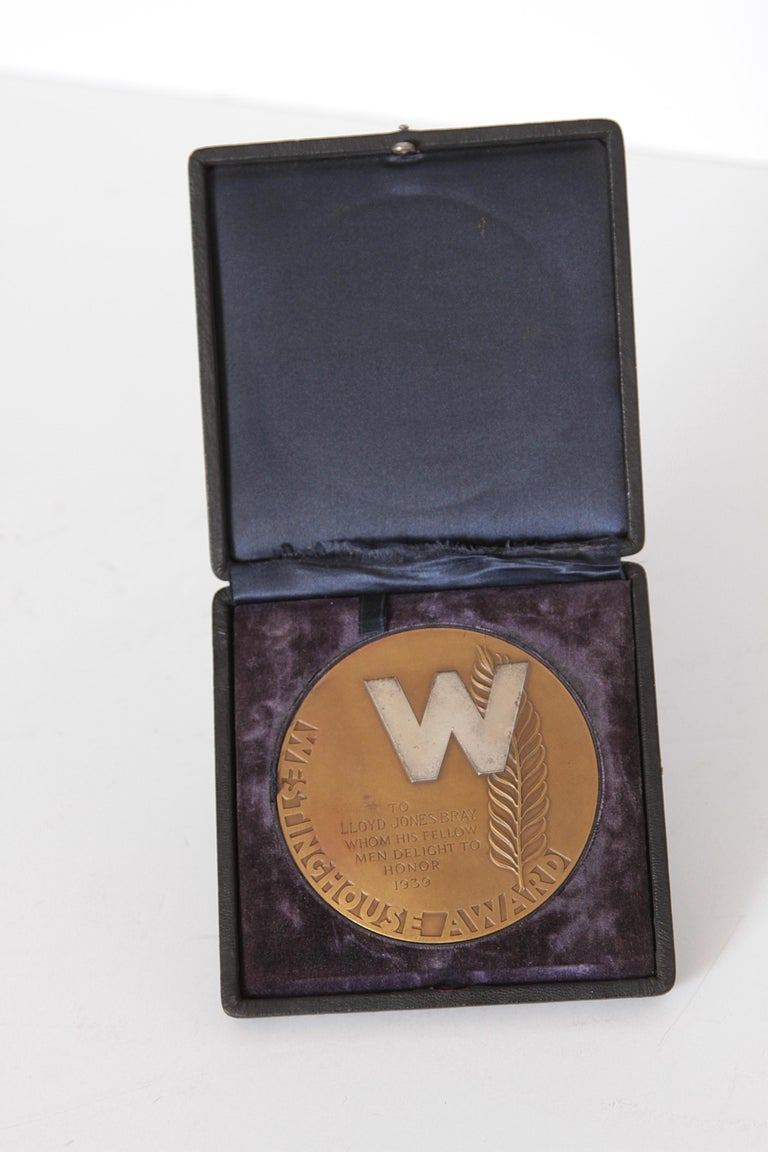 American Machine Age Art Deco Rene Chambellan Medallion, Rare Oversized Westinghouse For Sale