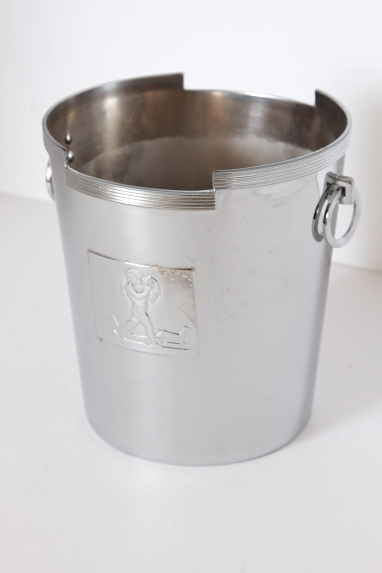 American Machine Age Art Deco Rockwell Kent Chase Bacchus Wine Cooler / Champagne Bucket For Sale