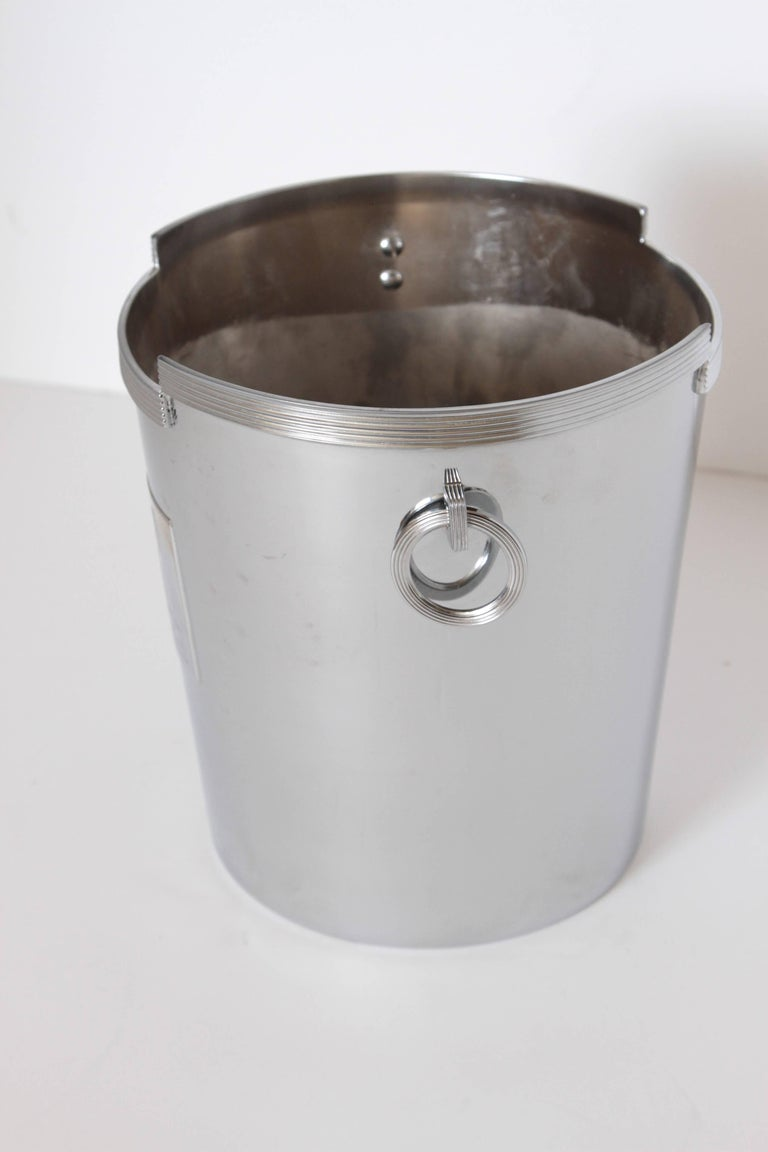 Plated Machine Age Art Deco Rockwell Kent Chase Bacchus Wine Cooler / Champagne Bucket For Sale