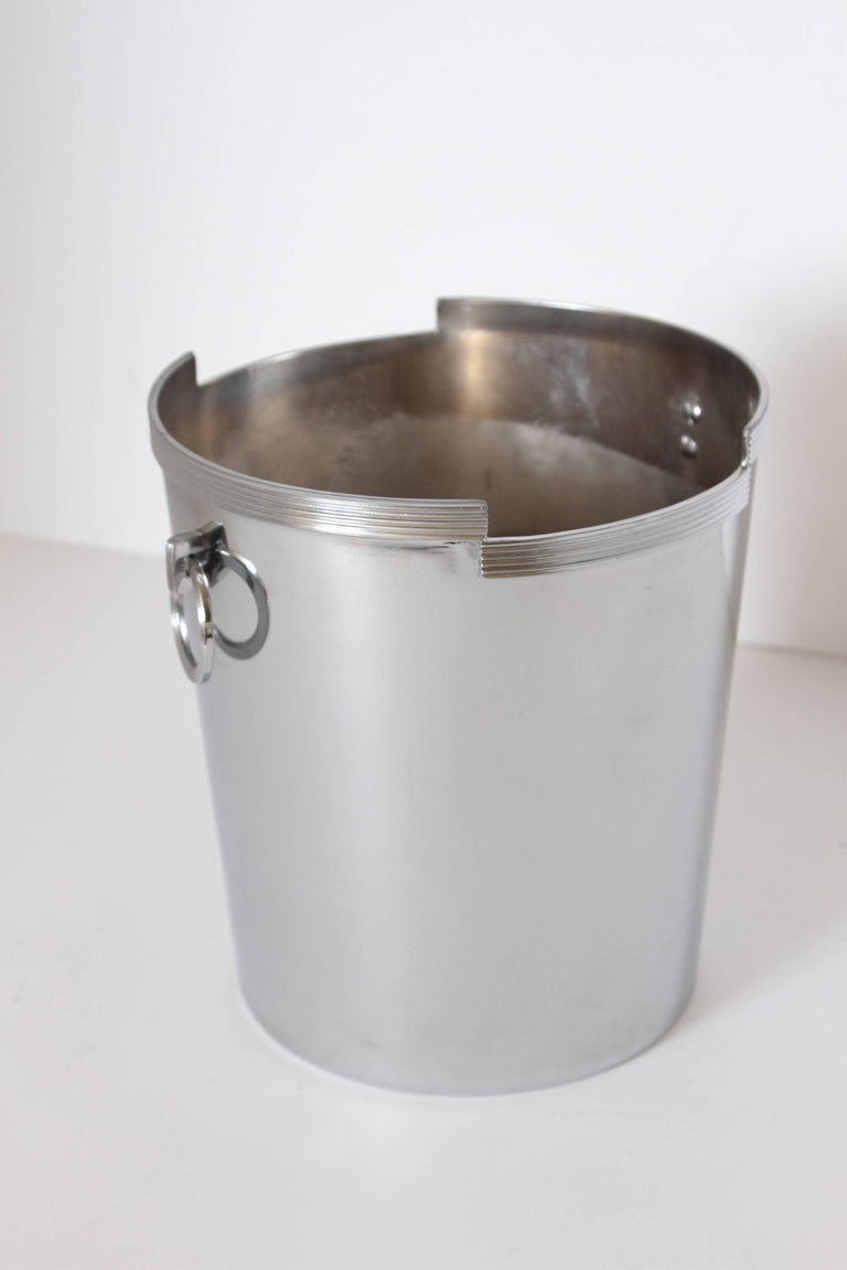 Machine Age Art Deco Rockwell Kent Chase Bacchus Wine Cooler / Champagne Bucket In Good Condition For Sale In Dallas, TX