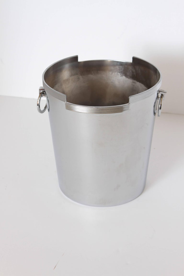 Mid-20th Century Machine Age Art Deco Rockwell Kent Chase Bacchus Wine Cooler / Champagne Bucket For Sale
